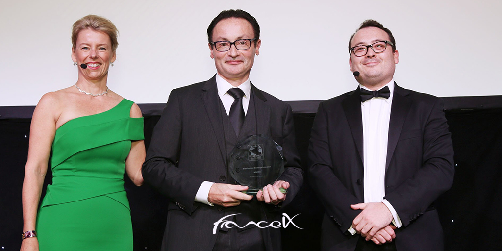 France-IX Best Internet Exchange Innovation at the Global Carrier receive by Franck Simon